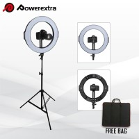 LED Ring Light Powerextra 18 inch Bi-Color Makeup Video + Free Bag