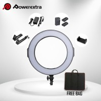RING LIGHT POWEREXTRA PAKET 3 ( BAG + 2 BATTERY + 1 CHARGER )
