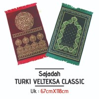 Sajadah Turki Turkey Velteksa Classic/Sajadah Bludru/Oleh Oleh Haji