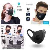 Masker PM 2.5 Valve Face Mask Dust With Filter mirip N95 / KN95 /Bowin