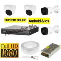 PAKET CCTV DAHUA 4CH FULL HD LENGKAP