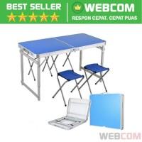 Meja Kursi Piknik/Santai Foldable Aluminium Portable 4 Chair 1 Table