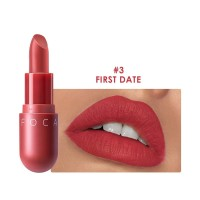 FA87 FOCALLURE NEW Matte lipstick red brown velvet lip Kosmetik #03