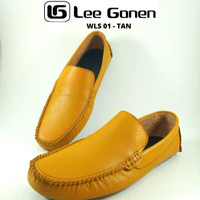 Sepatu Pria Type RS - WLS01 Tan Loafers Shoes - Tan , 39-43