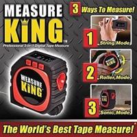 Meteran Laser Benang Roller Cord Measure King 3 In 1 Digital Tape 3in1