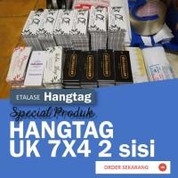 Hang Tag Baju / Label Price Tag Hangtag uk.7x3 cm cetak 2 sisi