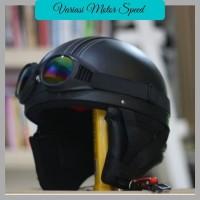 Helm Chip Bogo - Helm Kulit Kacamata Goggle Rainbow TERLARIS VMS