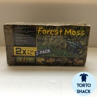 Exoterra Forest Moss 2-Pack|Substrate Tropical|Moss Reptil Kandang|7 L