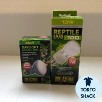 Paket Daylight|Daylight 50 W+UVB 100 13 W|Set Lampu Repil|Lampu Iguana