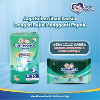 Confidence Adult Classic Day M 30's & Confidence Adult Wet Wipes