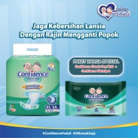 Confidence Adult Classic Day XL 15's & Confidence Adult Wet Wipes