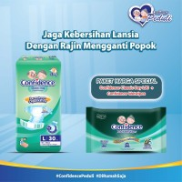 Confidence Adult Classic Day L 30's & Confidence Adult Wet Wipes