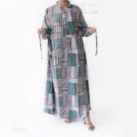 Dress Baju Muslim Wanita Gamis Jumbo tali pinggang shanghai SUZ12202 - Hijau
