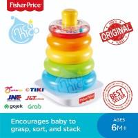 Fisher Price Rock-a-Stack 5 Rings Mainan Edukasi Anak Bayi Balita