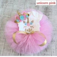 Baju pesta bayi anak ulang tahun / baby girl dress birthday unicorn