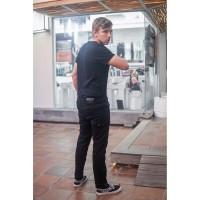 Papperdine 220 Black Slim Fit Celana Panjang Pria Soft Jeans Selvedge