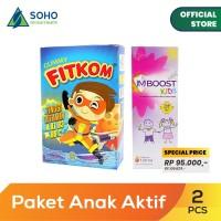 Paket Anak Aktif - Imboost Kids Syrup 120ml dan Fitkom Gummy