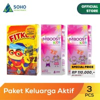 Paket Anak Ceria - Imboost Kids Syrup 60ml - 2 Pcs dan Fitkom Gummy