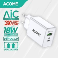 ACOME Charger Original Dual Output Fast Charging iPhone PD QC3.0 AC02