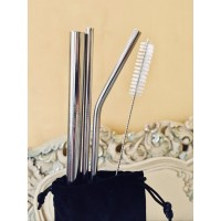 Sedotan Stainless Steel / Straw Stainless Steel Reusable free pouch