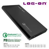 Original Log On Powerbank 960L 10000 mAh Qualcomm 3.0 Power Delivery