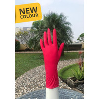 sarung tangan glove blossom-nitrile-isi-100-warna-merah RED