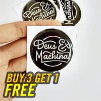 Stiker Deus Ex Machina Emblem Sticker Motor Aksesoris Helm