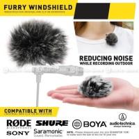 WindShield Mic Bulu 1CM Cover Universal Microphone BOYA MAMEN RODE