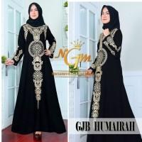 NEW Terbaru Gamis Abaya Hitam Bordir / Baju Gamis Lebaran / Home Dress