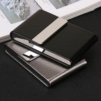 Cover Kotak Bungkus Rokok Elegan Leather Cigarette Case FOCUS Black