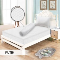 Monalisa Sprei Polos Jacquard 120x200 Warna Putih