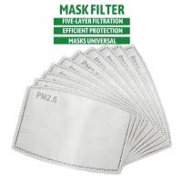 Refill filter masker pm 2.5 carbon active 5 lapis untk masker N95 KN95