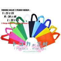 [Grosir] Tas Spunbond Polos Goodie Bag Handle Tali - Tas Eco Friendly
