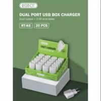 Batok Charger Robot / Kepala Charger Robot Dual Port USB 2,4A RT-K6