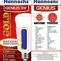 Lampu emergency hannoch GOLD baterai 9w AC/DC