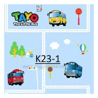 Wallpaper dinding anak motif Bus Tayo *HARGA PER ROLL*