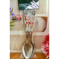 Sendok Makan / Sendok Stainless Tebal Set Merek Mason Motif Batik 6Pcs