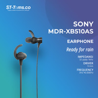 Sony Sports ExtraBass Splashproof Headphone MDR-XB510AS - Hitam - Hitam