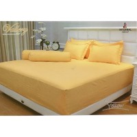 Bedcover Polos Embos Vallery 180 x 200 Yellow tinggi 30 King size