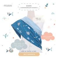 Gendongan Kaos Geos Bayi Mooi Motif - SKY ROCKET, SIZE L