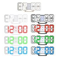 Jam Dinding: Jam Dinding Digital LED Besar Tampilan Waktu 12/24 Jam