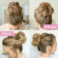 Easy to Wear Hair Scrunchies Hair Bun Extensions Synthetic Chignon