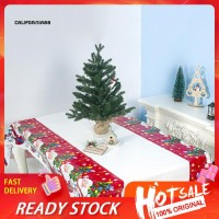 Christmas Santa Table Cover Tablecloth Cushion Mat PVC Waterproof