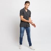 MENTLI Kemeja Pria Stripe - Max Casual Shirt