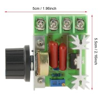 LED AC 50-220V Voltage Controller AC 25A Motor 2000W Dimmers Speed