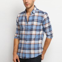 MENTLI Kemeja Flanel Pria - Russel Flannel Shirt