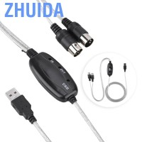 Zhuida (Up to 50% Off)Qianmei MIDI USB Cable Converter Interface