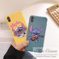 Casing iPhone 8 7 6 6s Plus 8plus X Luggage Box Cute Cartoon Stitch
