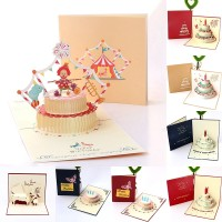 Card Gift Hot New 3D Pop-up Greeting Card Love Romantic Birthday