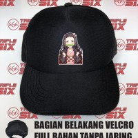Topi Full Bahan Anime Kimetsu no yaiba nezuko chibi demon slayer